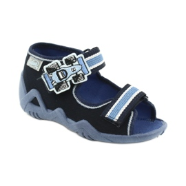 Navy Befado slippers sandals children's shoes 250P065