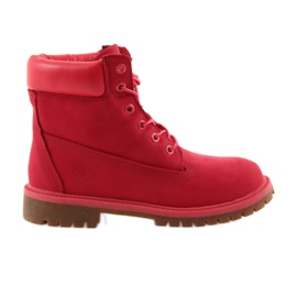 Red Timberland 6 INCH PREMIUM WATERPROOF