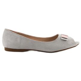 Vinceza Open Toe ballerinas grey