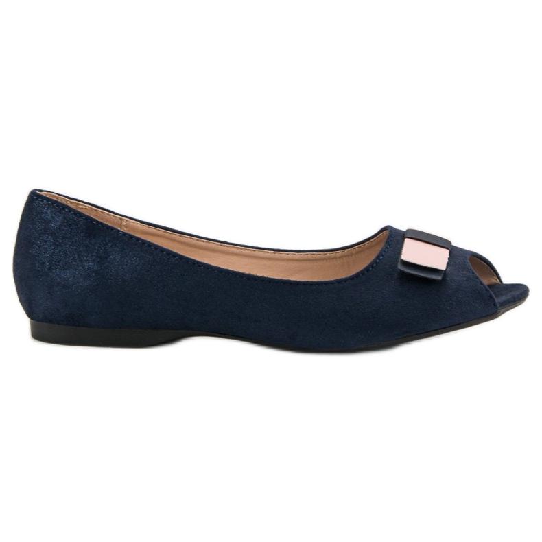 Open Toe Vinceza ballerinas blue
