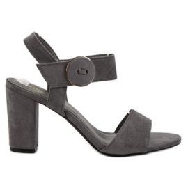 Grey Gray Sandals on the UP Post of VINCEZA