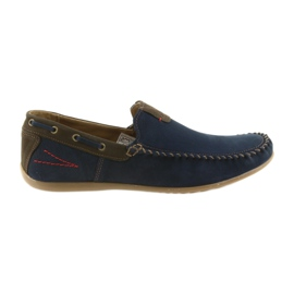 Riko moccasin shoes men blue 781