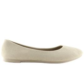 Women's beige ballerinas JX1018 Beige