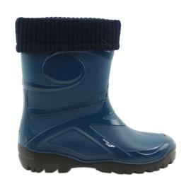 Navy Demar galoshes women's shoes warm sock