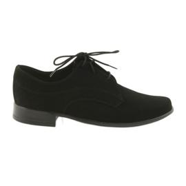 Miko shoes children suede communion shoes black