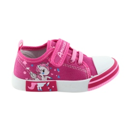 American Club pink American sneakers children's shoes with velcro inlay leather