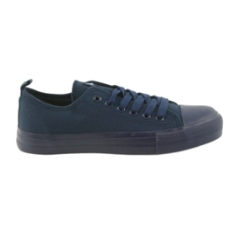 Navy Men's shoes tied sneakers blue American Club LH05