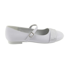 White Pumps children's shoes Communion Ballerinas rhinestones American Club 11/19
