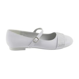 White Pumps children's shoes Communion Ballerinas rhinestones American Club 11/19