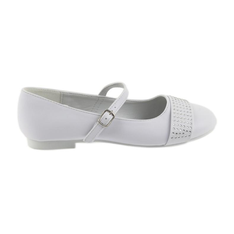 Pumps children's shoes Communion Ballerinas rhinestones American Club 11/19 white