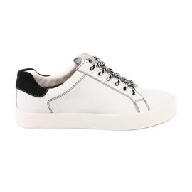 Women's white sneakers Caprice 23203 adjustable width
