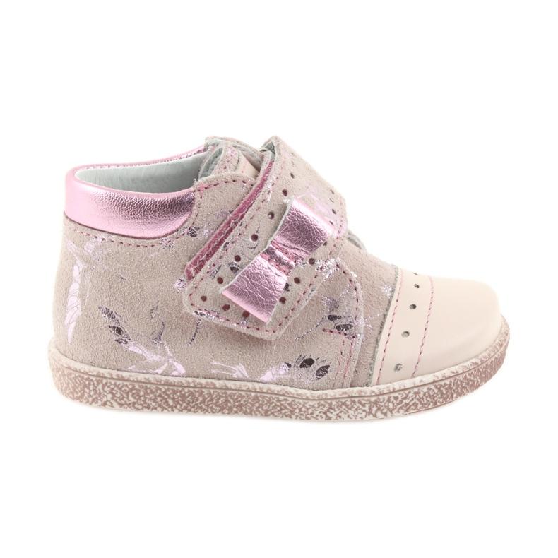 Velcro booties Baby shoes Ren But 1535 pink flamingos