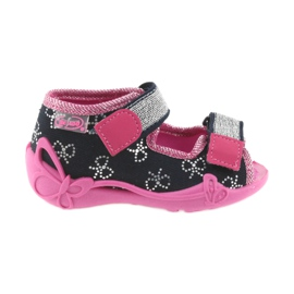 Befado slippers children's shoes 242P089 navy blue