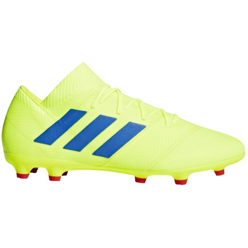 Football shoes adidas Nemeziz 18.2 Fg M BB9431 yellow yellow