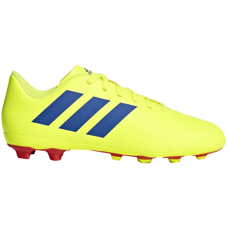 Football shoes adidas Nemeziz 18.4 FxG Jr CM8509 yellow multicolored