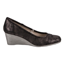 Vinceza Glitter Pumps On Wedge brown