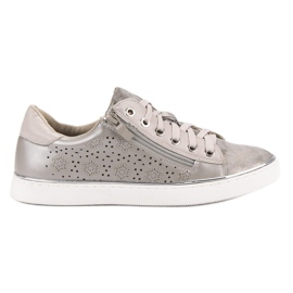 Kylie Casual Silver Sneakers grey