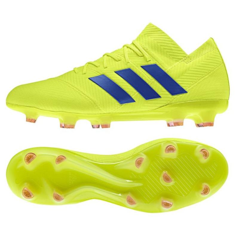 Football shoes adidas Nemeziz 18.1 FG M BB9426 yellow
