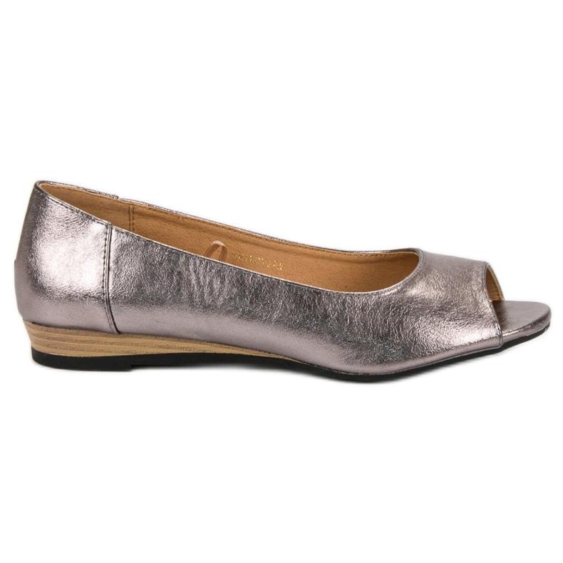 Open Toe VINCEZA ballerinas grey