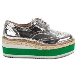 Corina Fashion Wedge Shoes grey