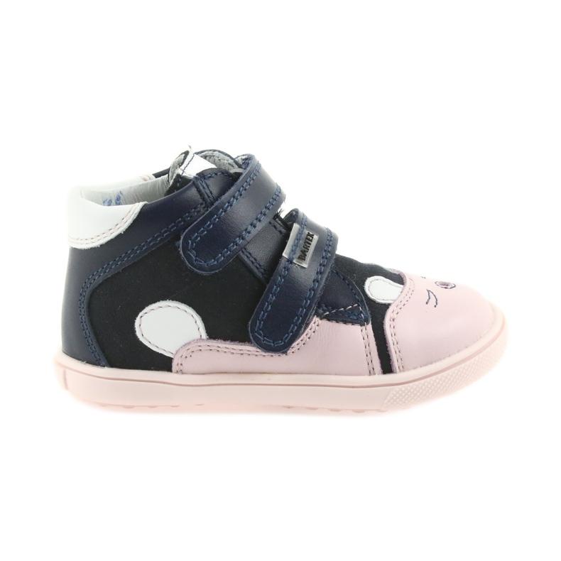 Boots shoes children Velcro rabbit Bartek 11702 white pink navy