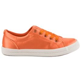 Kylie Satin Sneakers orange