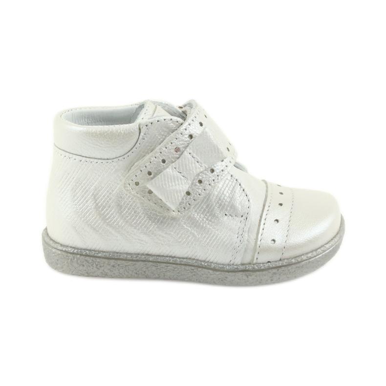 Velcro-booties children's shoes Ren But 1535 bow silver