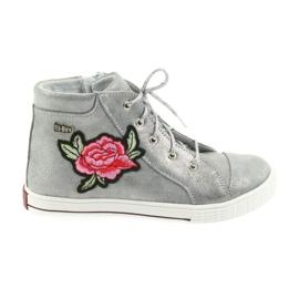 Shoes shoe girls silver Ren But 4279 grey