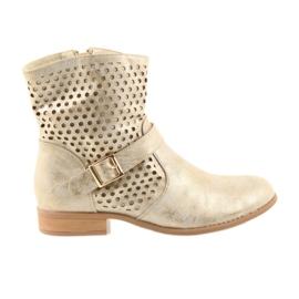 Daszyński Casual women's boots SA142 gold