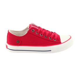Sneakers tied red Big Star 274339
