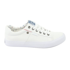 Big Star Men's sneakers tied white 174097