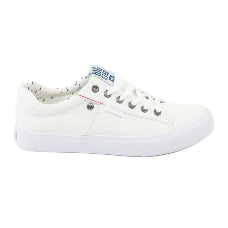 Big Star Men's sneakers tied white 174097