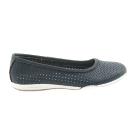 Openwork navy blue ballets Filippo 089