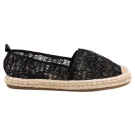Sweet Shoes Lace Espadrilles black