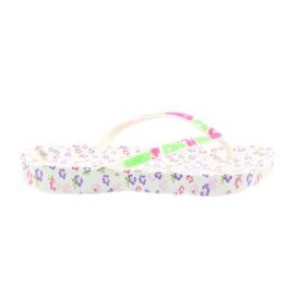 Atletico Women's flip-flops flowers white violet green pink