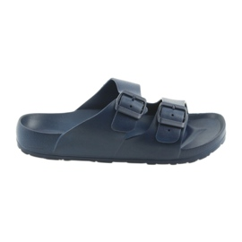 Mottled men's slippers Atletico navy blue