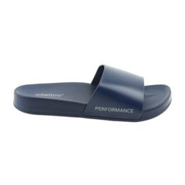 Mottled men's slippers Atletico navy blue