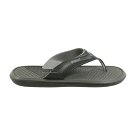 Atletico black men's flip flops