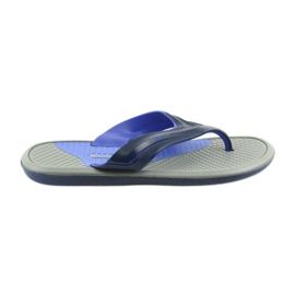 Atletico men's navy blue flip-flops