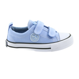 Velcro sneakers American Club LH50 blue children's shoes