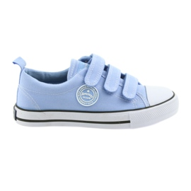 Sneakers children's velcro shoes American Club blue LH49