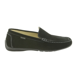 Black Loafers men's leather shoes American Club 01/2019