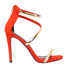 Sandals on an orange pin 988-58 Orange
