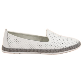 Filippo Leather Open Lords white