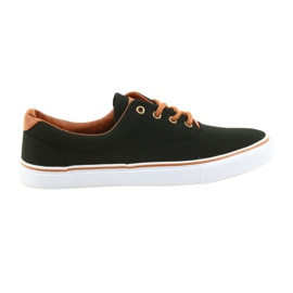 American Club Men's shoes black sneakers LH03