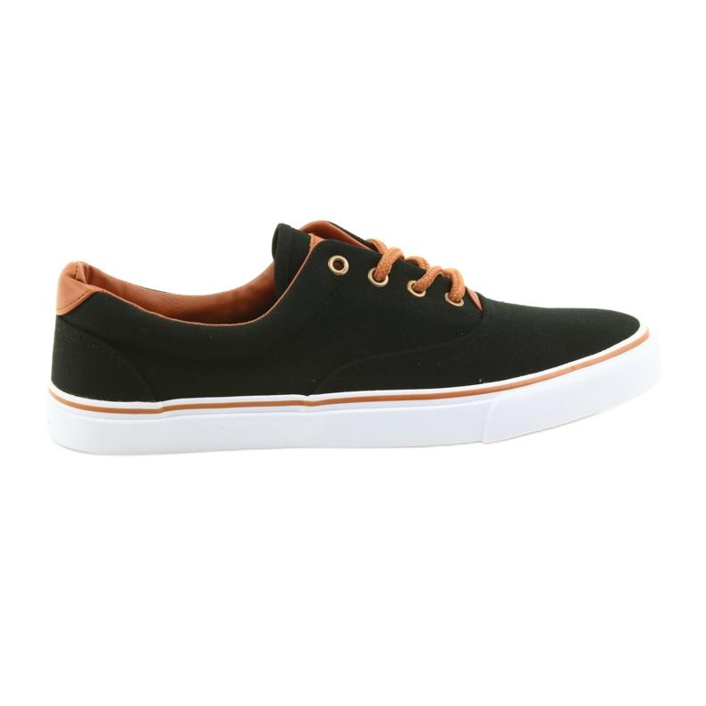 American Club Men's shoes black sneakers LH03 brown