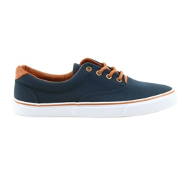 American Club Men's sneakers navy blue knotted LH03