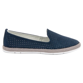 Filippo Leather Open Lords blue