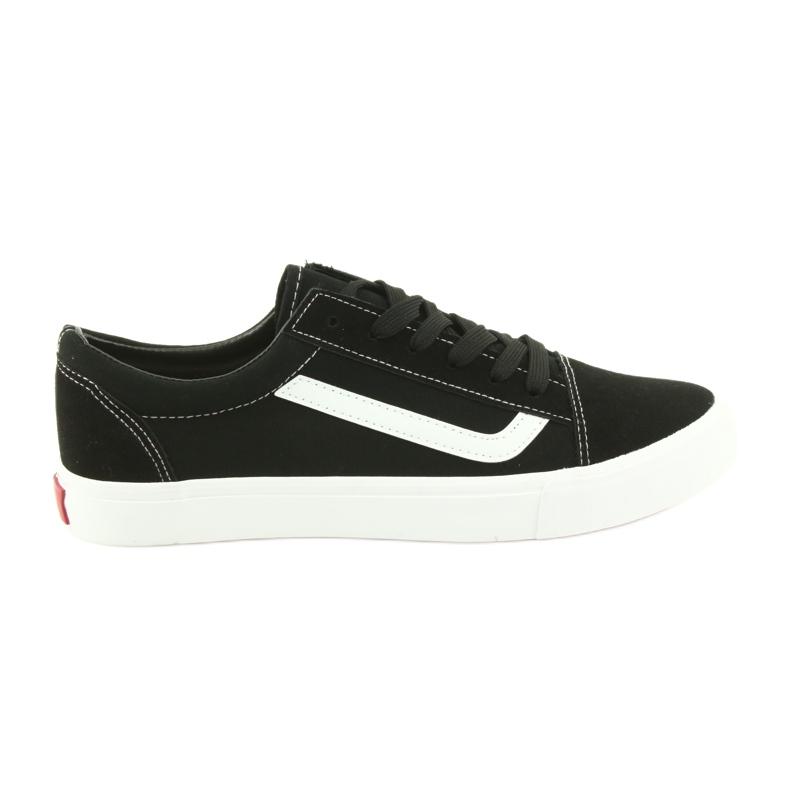 Atletico AlaVans black tied sneakers white