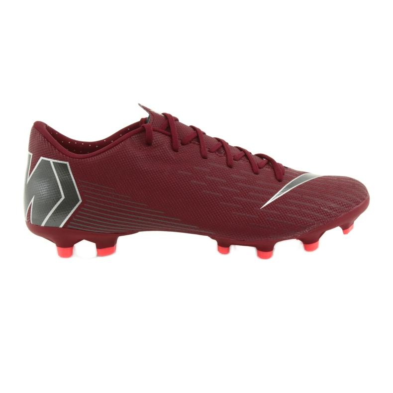 Nike Mercurial Vapor 12 Academy FG M AH7375-606 Football Boots burgundy red